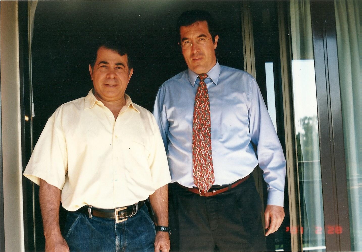 Marcelo Gullo Junto al embajador de Israel Rafael Eldad